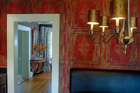 餐厅背景墙混搭风格装潢图片