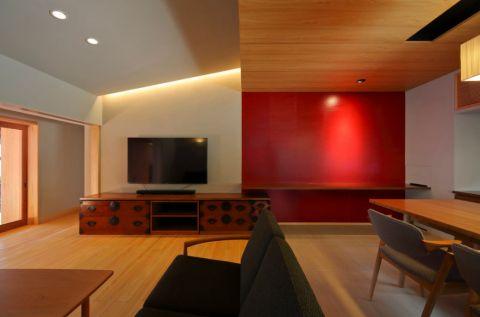 客厅电视柜日式风格装修效果图