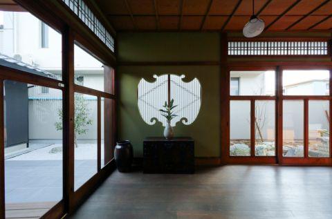 玄关地板砖日式风格装潢效果图