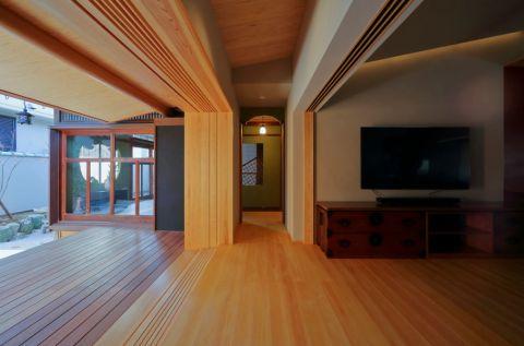 客厅电视柜日式风格装潢图片