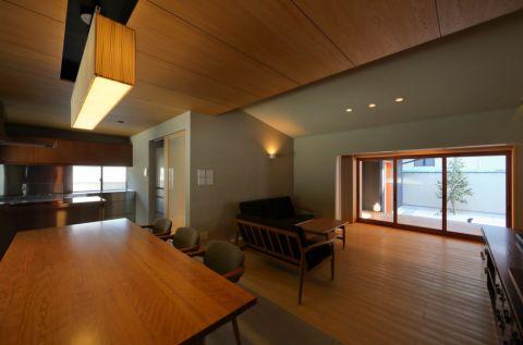 餐厅吊顶日式风格装修设计图片