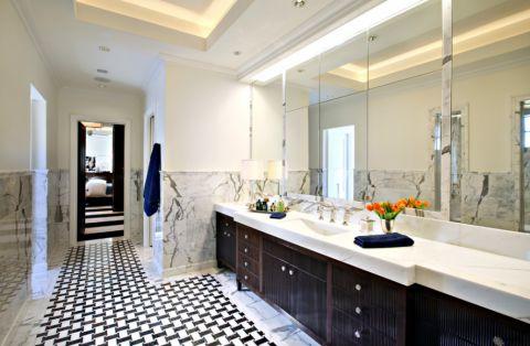 浴室洗漱台美式风格装修效果图