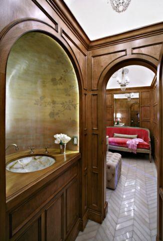 浴室洗漱台美式风格装饰效果图
