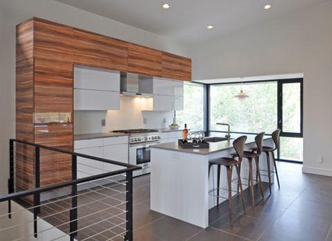 厨房现代风格效果图大全2017图片_土拨鼠简约温馨厨房现代风格装修设计效果图欣赏