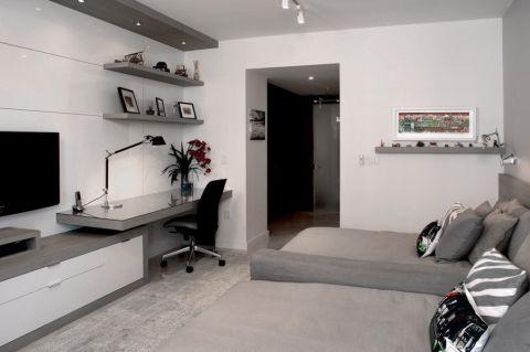 卧室书桌现代风格装修图片