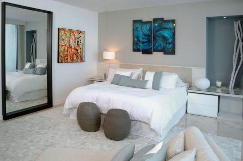 卧室现代风格效果图大全2017图片_土拨鼠精致写意卧室现代风格装修设计效果图欣赏