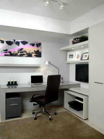 卧室书桌现代风格装修设计图片