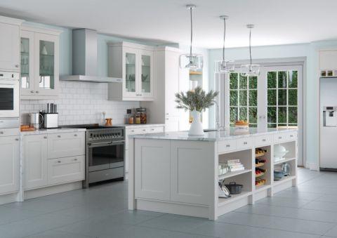 厨房现代风格效果图大全2017图片_土拨鼠美好纯净厨房现代风格装修设计效果图欣赏