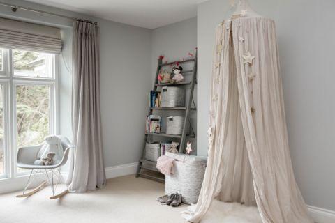 儿童房窗帘北欧风格装修图片