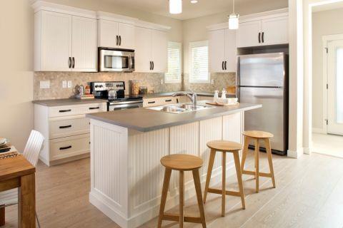 厨房现代风格效果图大全2017图片_土拨鼠优雅富丽厨房现代风格装修设计效果图欣赏