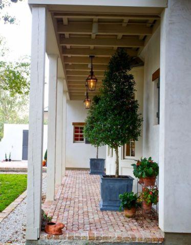 玄关地砖美式风格装潢设计图片
