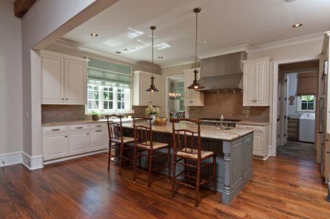 厨房美式风格效果图大全2017图片_土拨鼠优雅唯美厨房美式风格装修设计效果图欣赏