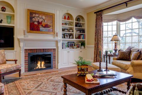 客厅美式风格效果图大全2017图片_土拨鼠潮流自然卫生间美式风格装修设计效果图欣赏