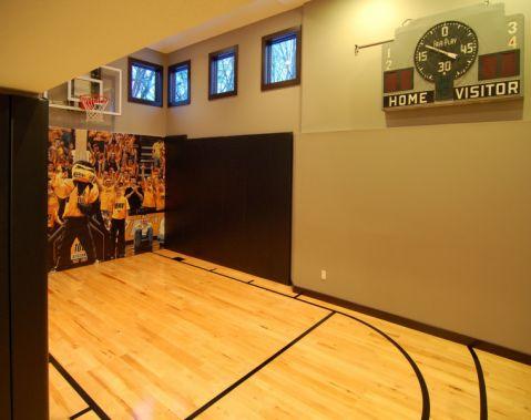 健身房背景墙现代风格装修图片