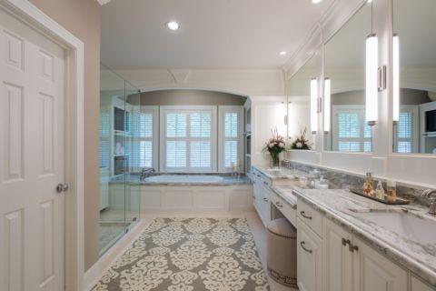浴室洗漱台美式风格装潢效果图
