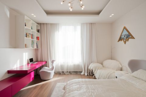 儿童房窗帘现代风格装修设计图片
