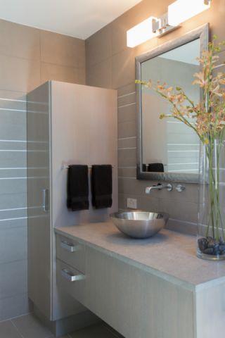 浴室洗漱台现代风格装潢效果图