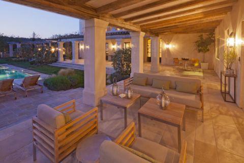 阳台灯具地中海风格装潢设计图片