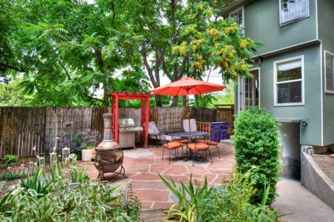花园地砖混搭风格装饰设计图片
