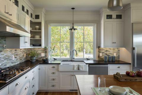 厨房美式风格效果图大全2017图片_土拨鼠美好质朴走廊美式风格装修设计效果图欣赏