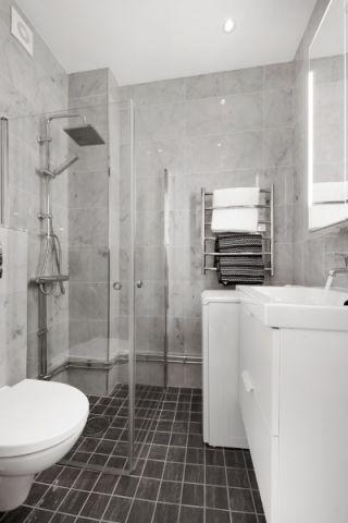 浴室背景墙北欧风格装潢效果图