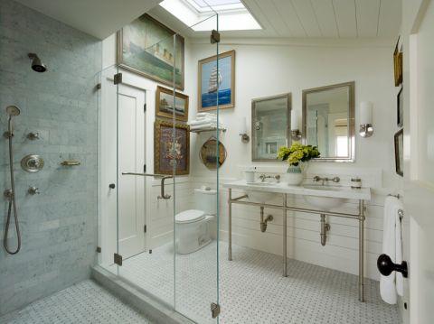浴室照片墙混搭风格装饰图片