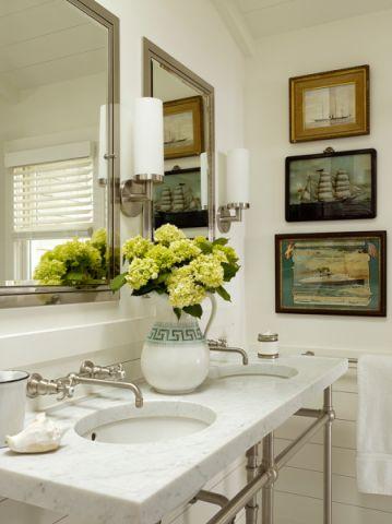 浴室照片墙混搭风格装修设计图片