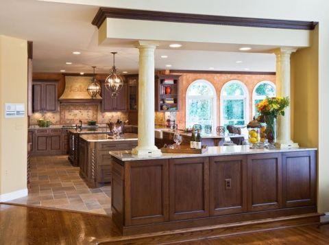 厨房地砖地中海风格装修设计图片