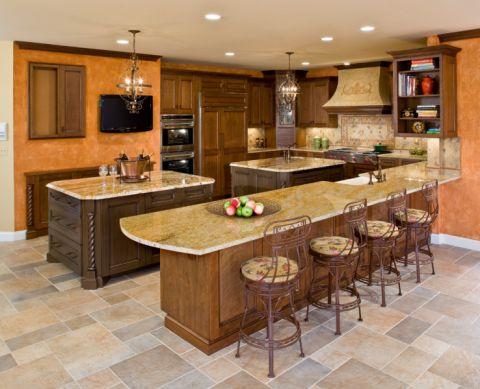 厨房吧台地中海风格效果图