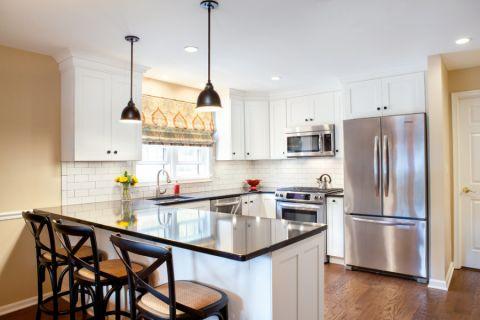 厨房美式风格效果图大全2017图片_土拨鼠简洁个性厨房美式风格装修设计效果图欣赏