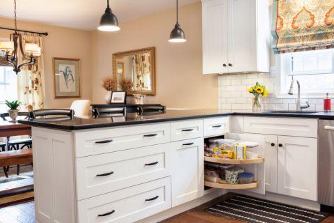 厨房吧台美式风格装潢效果图