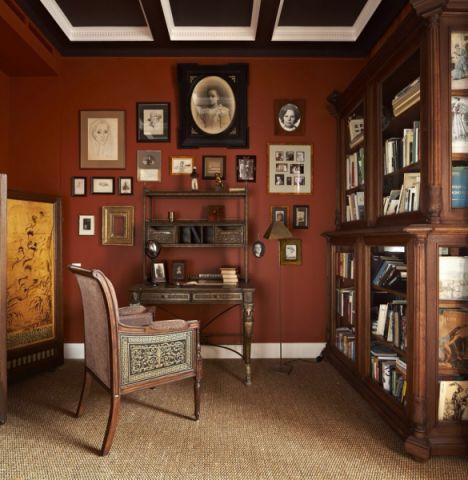 书房照片墙混搭风格装饰效果图