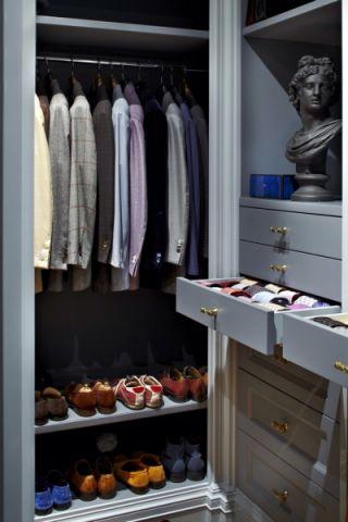 衣帽间衣柜混搭风格装饰图片