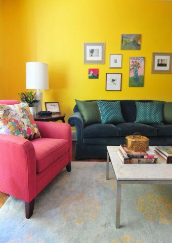 客厅茶几混搭风格装饰设计图片