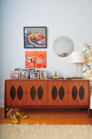 客厅地板砖混搭风格装修图片