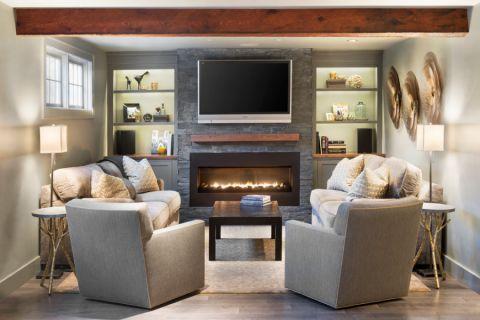 客厅美式风格效果图大全2017图片_土拨鼠清新清新楼梯美式风格装修设计效果图欣赏