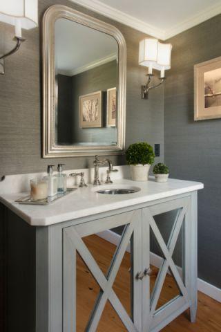 卫生间洗漱台美式风格装饰图片
