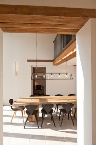 餐厅吊顶混搭风格装潢图片