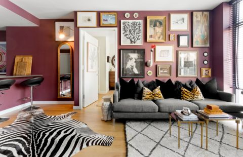 客厅照片墙混搭风格装修图片