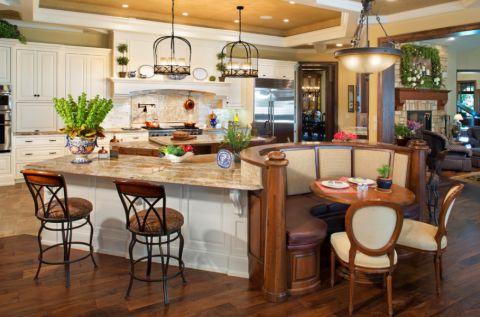 厨房混搭风格效果图大全2017图片_土拨鼠潮流清新厨房混搭风格装修设计效果图欣赏
