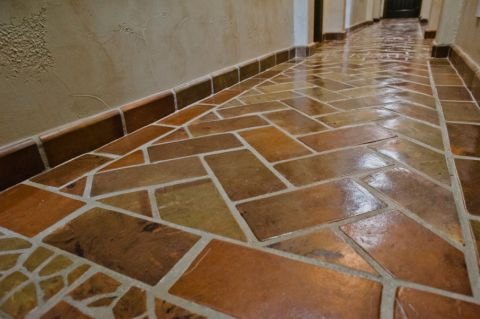 玄关走廊地中海风格装修设计图片