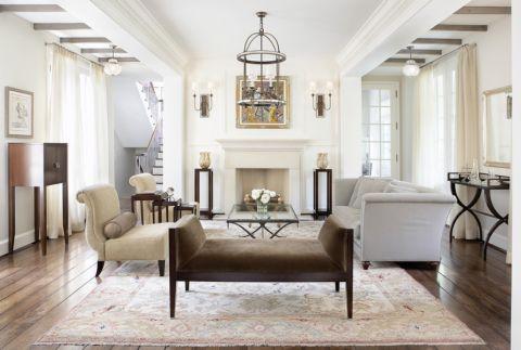 客厅美式风格效果图大全2017图片_土拨鼠美好个性客厅美式风格装修设计效果图欣赏