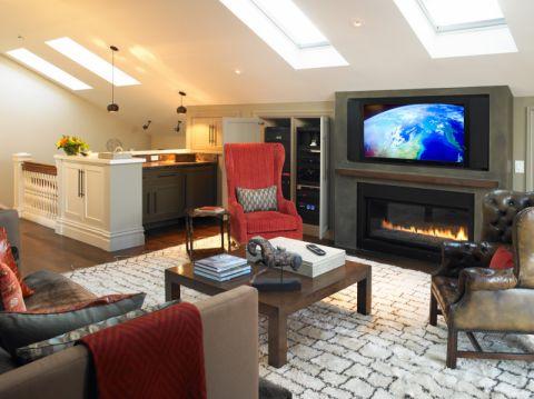 客厅美式风格效果图大全2017图片_土拨鼠干净风雅客厅美式风格装修设计效果图欣赏