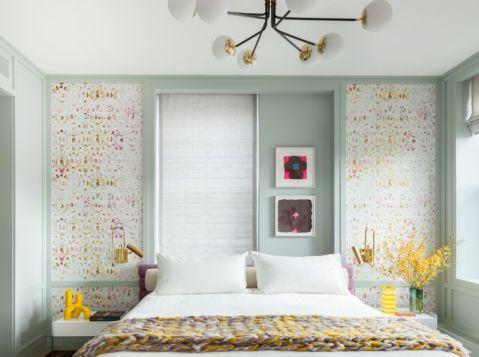 卧室吊顶混搭风格装饰效果图