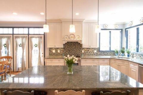 厨房吧台混搭风格装饰设计图片