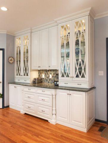 厨房地板砖混搭风格装修效果图