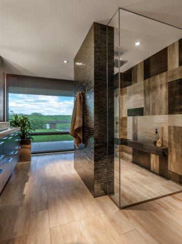 浴室地板砖现代风格装修图片