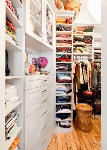 衣帽间衣柜混搭风格装饰效果图