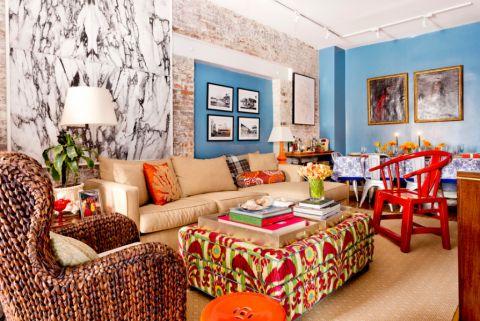客厅混搭风格效果图大全2017图片_土拨鼠个性纯净橱柜混搭风格装修设计效果图欣赏