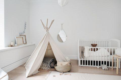 儿童房背景墙北欧风格效果图